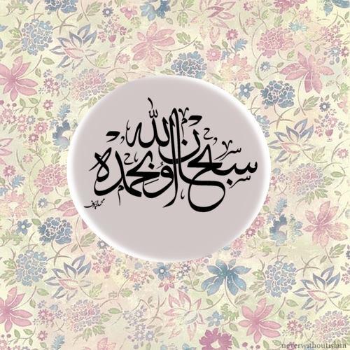 سبحن اللہ وبحمدہ